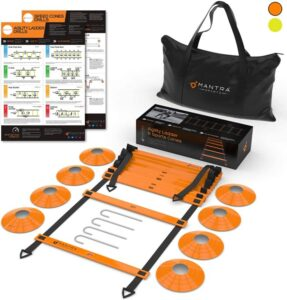 Mantra Sports Agility Ladder & Speed Cones Training Set